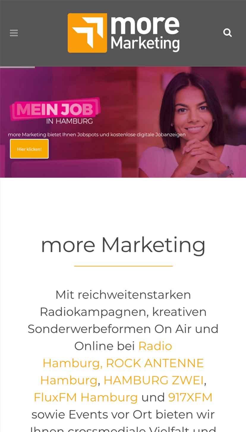 more marketing cliente referencia proyecto mein job in hamburg