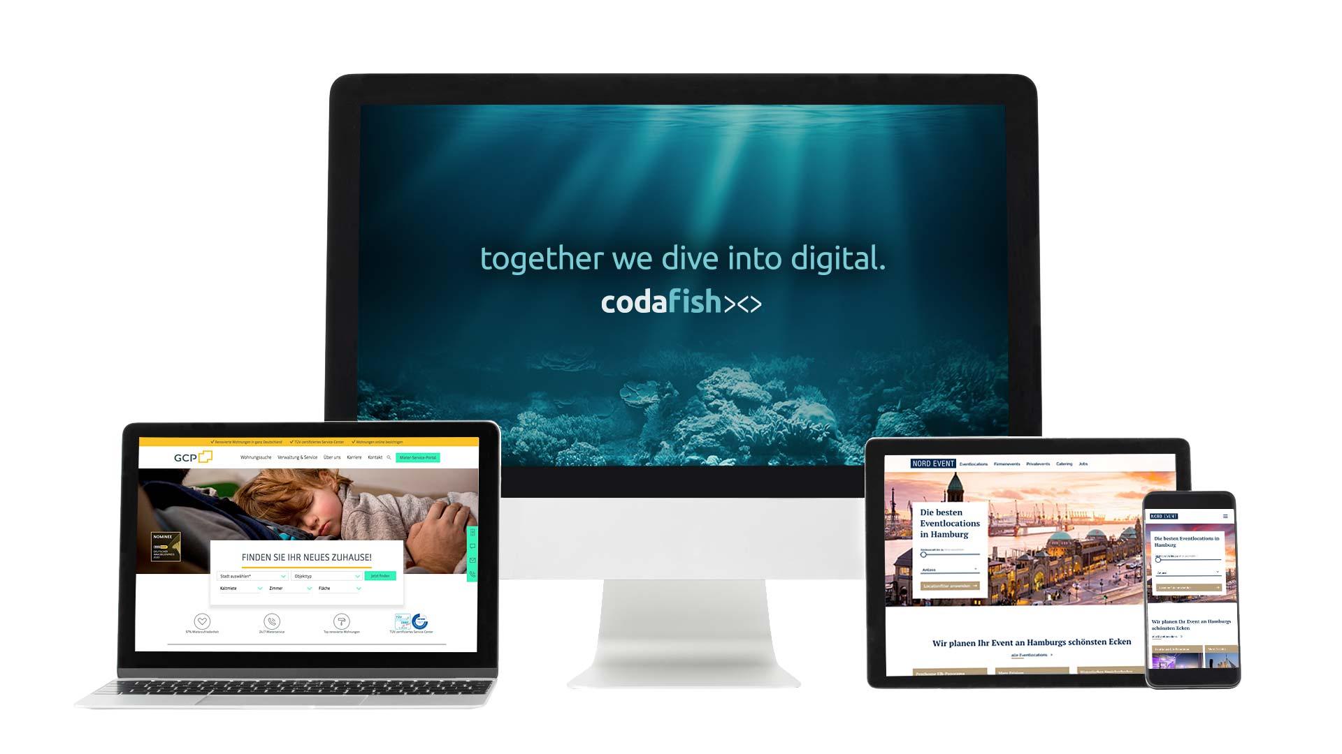 desktop mobile screen proyecto referencia codafish grandcity property nordevent clientes