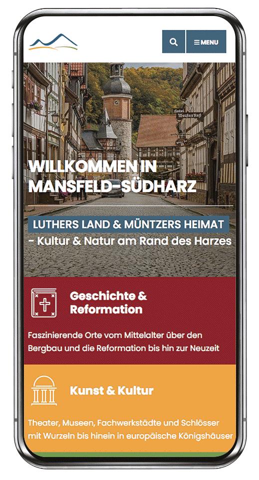 Ilustración proyecto de referencia Screen Mobile Desktop codafish mansfeld südharz